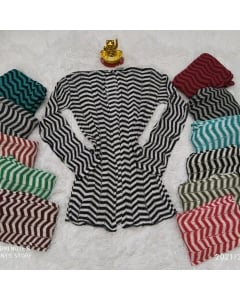 Kimono de tricot listrado disponível em várias cores