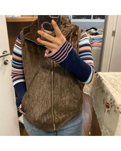 Colete feminino com forro Tem bolsos super quentinho outono inverno