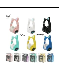 Fone Orelha De Gato Gatinho Cat 5.0 Bluetooth Ear Com Led Rgb Headphone Original A-900