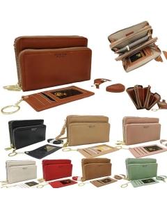 Bolsa carteira com porta cartão Xaviera Bolsas